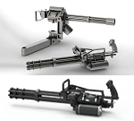 3D Minigun Models by Kuba_T1000