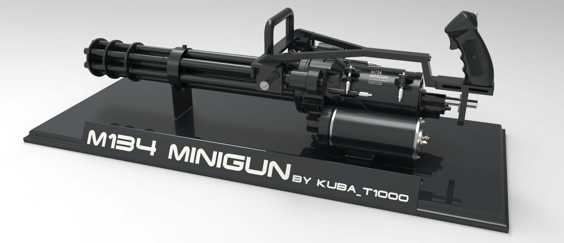 3D Model M134 HD Minigun picture