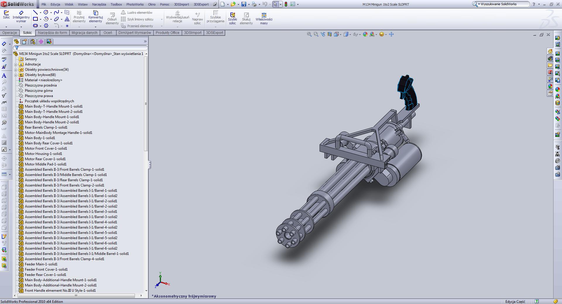 3d solidworks model of the horizontal steerer magnet | download.