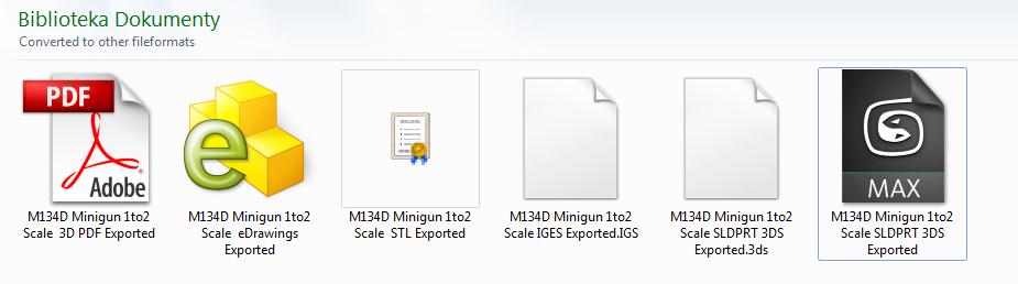3D M134D Minigun Model - Specification