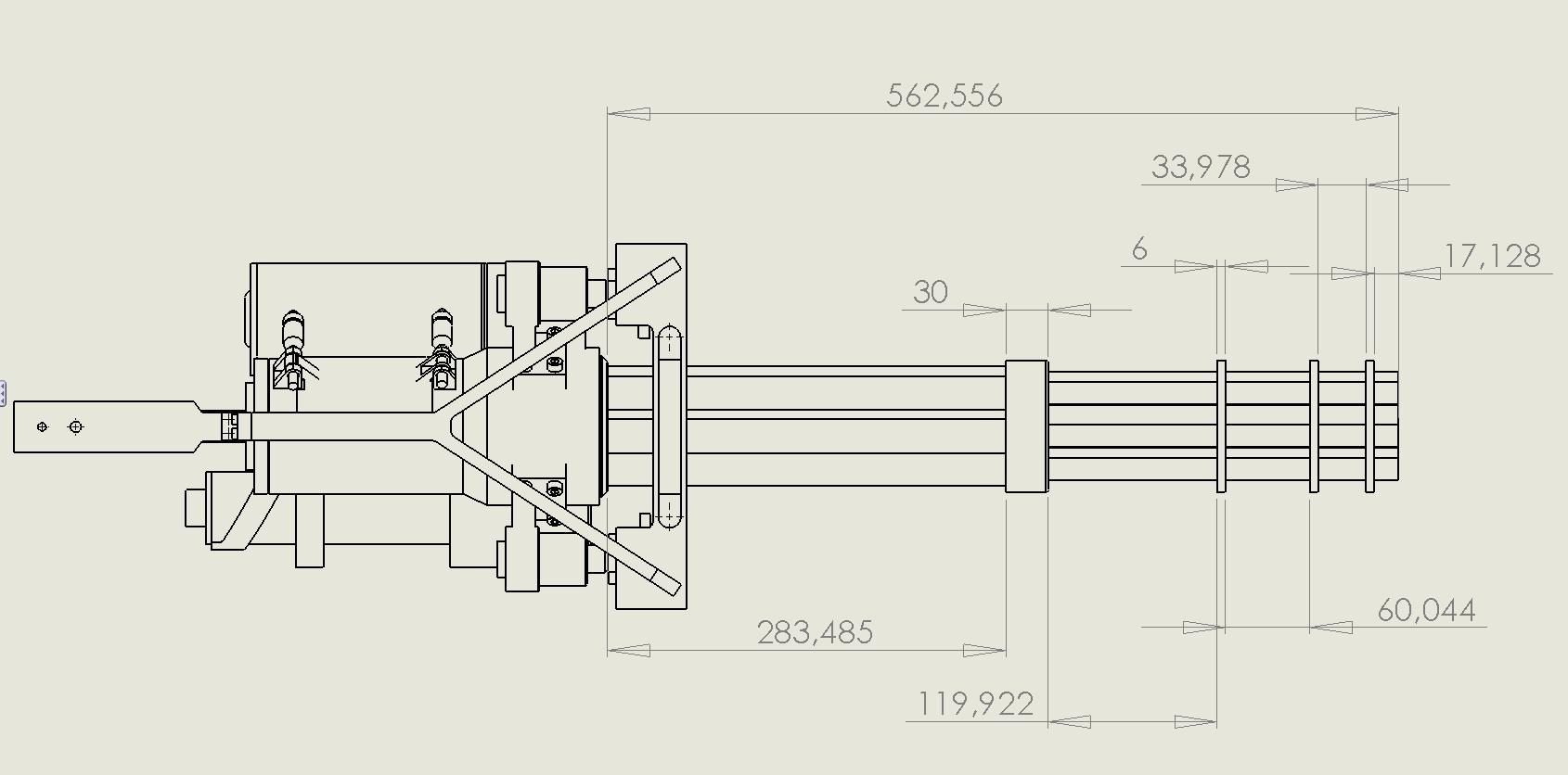 M134 minigun schematics diy m134 minigun barrels for Blueprints for sale
